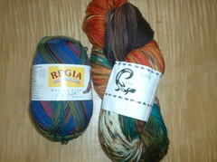 Regia Kaffe Fassett and Liza Sock Yarns