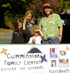 The Cummington Family Center Booth at the Ashfield Fall Festival.