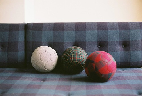 Fabric balls by klas ernflo.