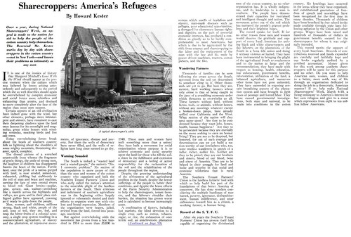 Sharecroppers - America's Refugees - Crisis Magazine, March, 1940 by vieilles_annonces