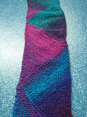 Biased - multi-directional scarf in Noro Kureyon