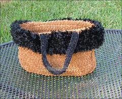 Suede Feather Purse