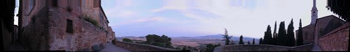 Panorama dal belvedere di Pienza.