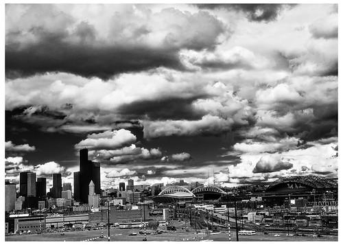 Clouds over Seattle- Kodak HIE