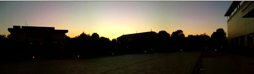 Sunset scape at Tokyo National Museum