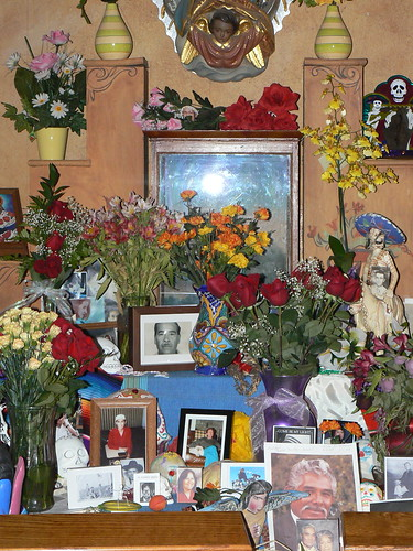Day of the Dead altar inside the Mission Church