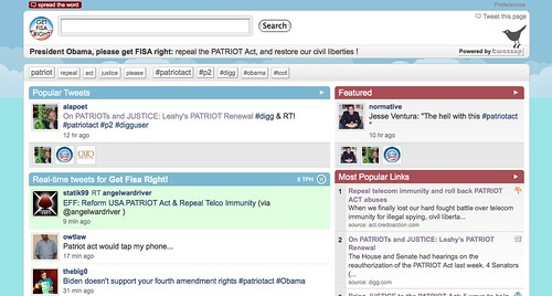 Screenshot of Twazzup getfisaright page