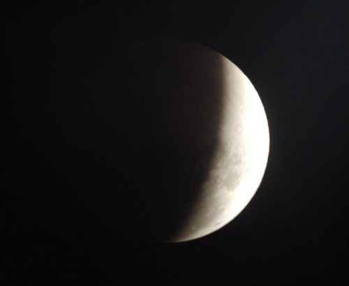 The Moon Emerges from the Earth's Shadow on 2/20/08