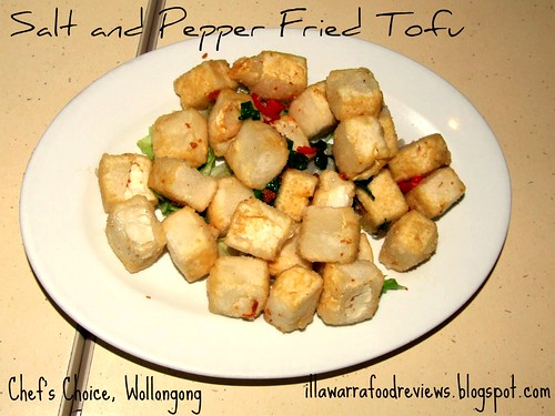 Salt and pepper fried tofu at Chef's Choice, Wollongong