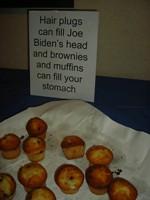 Democratic Senator Joe Biden is also the brunt of jokes at the party / photo taken by Rachel Mauro