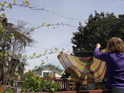 lime shawl to hang