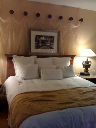 Overdone bed decoration