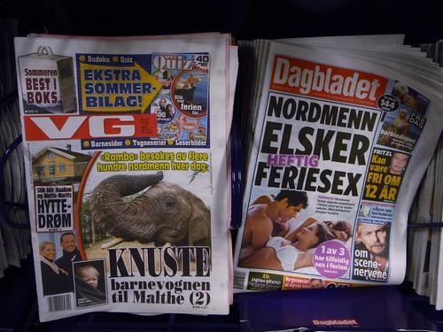Den eksakte grunnen til at jeg aldri aldri aldri kommer til å lese VG og Dagbladet noensinne igjen
