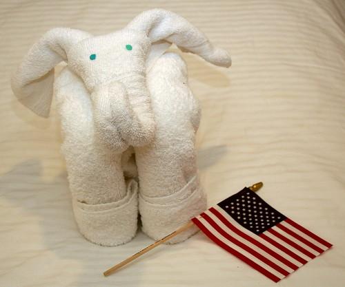I still love the towel animals!