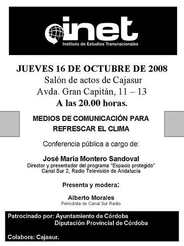 Conferencia Jose Maria Montero en Cordoba