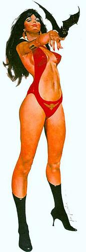 Seguramente esta es la imágen mas archiconocida de Vampirella, se vendia como un poster full color a tamaño natural, su autor José Pepe González