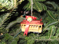 Cable Car Ornament from San Francisco Trip