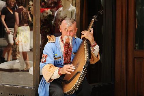 Músico con balalaika - Cracovia