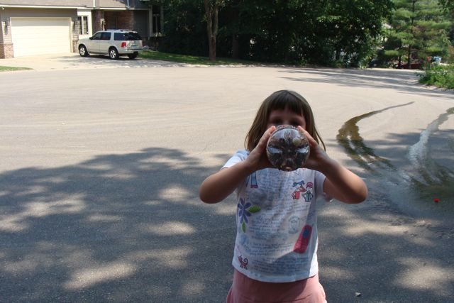SOC #3 drinking the ruined Diet Coke!  (She spit it out after!)