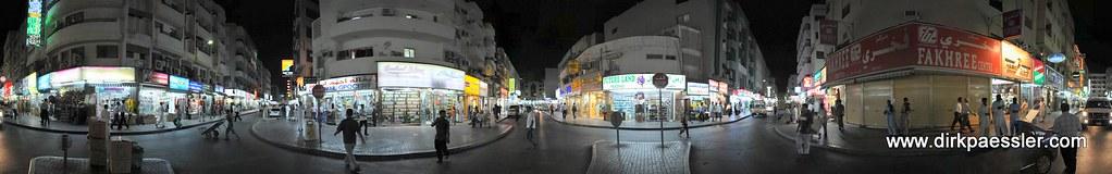 Street corner in the Bazar Quarter of Dubai