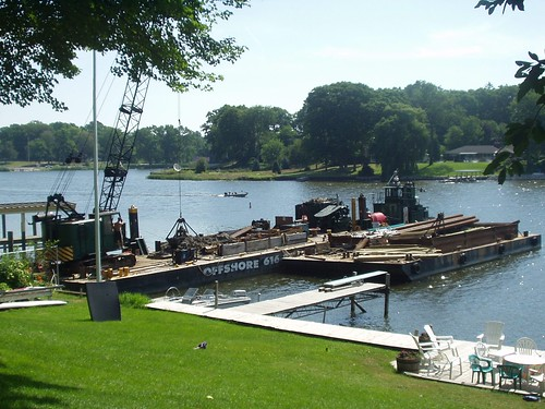 the diving board, normally seen without the somewhat odd dredging equipment
