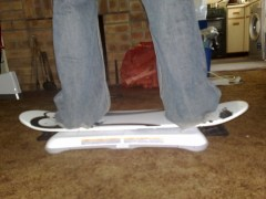 Snowboarding with a Snowboard attachment