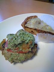 ハンバーグ季節の野菜ソース&挽肉みそ風味のキッシュ@sola's kitchen