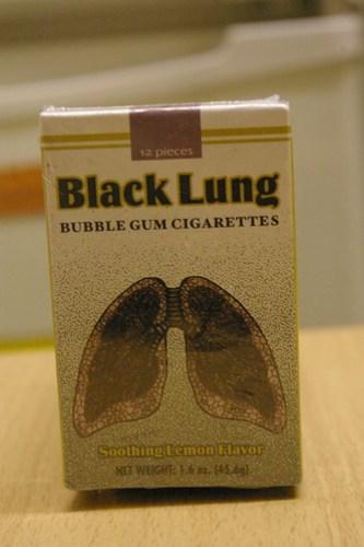 Black lung children's cigarettes