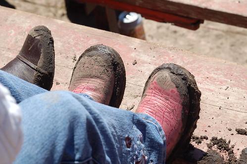 Schuhe eines echten Cowgirls