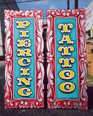 neon signs. old signs. sign. tattoo