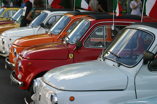 proud line-up of cinquecento