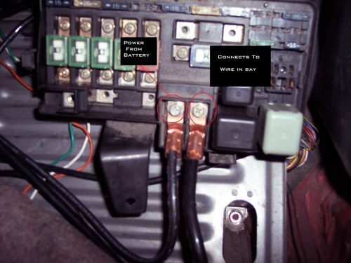 small resolution of fusebox relocation honda prelude forumhonda fuse box tuck 21