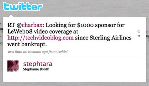 Twitter / Stephanie Booth: RT @charbax: Looking for $ ...