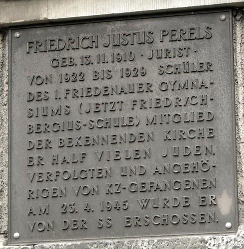 Gedenktafel für Friedrich Justus Perels
