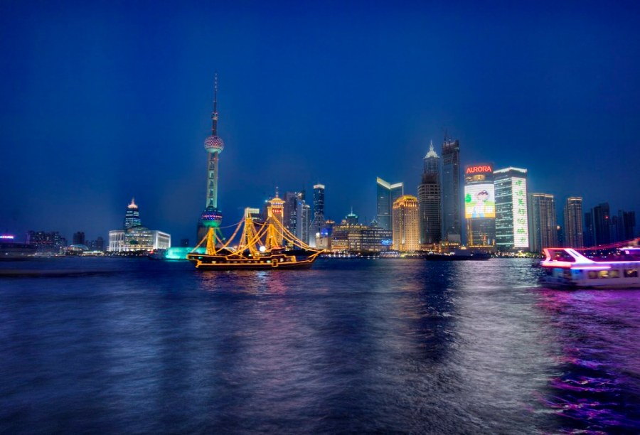 The Pirate Ship in Shanghai at Night