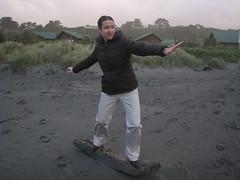 """""""Surfing"""" at Hokitika"""