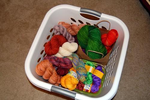 Basket of yarrrrn!
