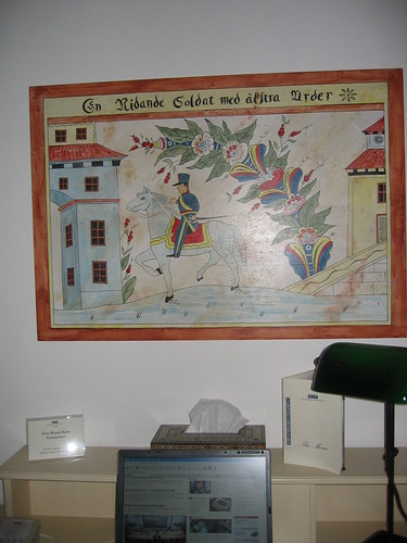 A Swedish painting in the American Colony Hotel in Jerusalem