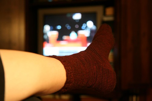 I watched the entire debate. And finished my sock! [365.134] by you.