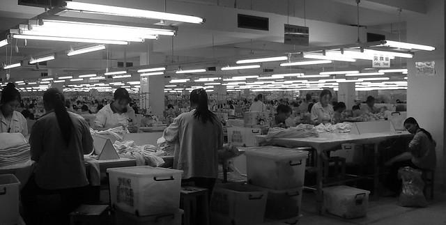 Clothing factory in Dongguan, China