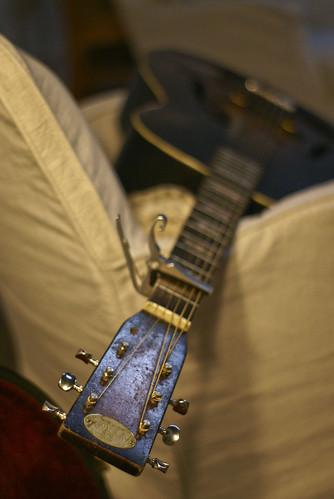 One of Scott's many vintage guitars