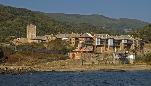 Iveron Monastery from sea