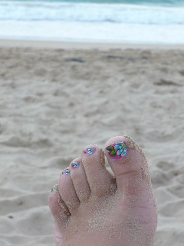 A Puerto Rican style foot on the beach ;-)
