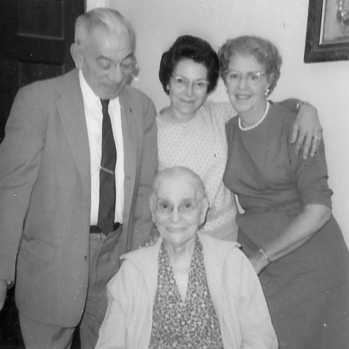 Uncle John, Aunt Marguerite, and Mom with Grandmom.jpg