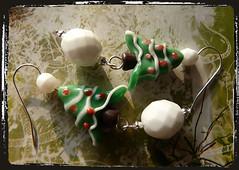 Orecchini albero di Natale - Christmas tree earrings MEHNNBS