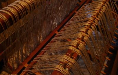 Linen rug warp