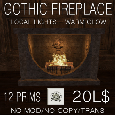 Domicile Gothic Fireplace