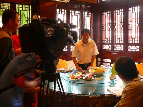 [Shanghai]台灣腳逛大陸之上海綠波廊餐廳拍攝前的蕊稿與聽講