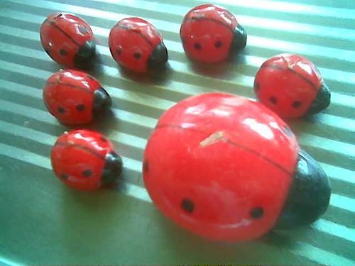 Candles - ladybirds