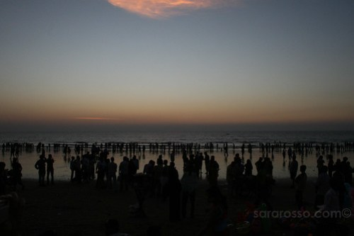 Sunset on Juhu Beach, Mumbai-Bombay, India